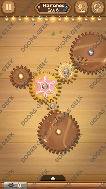 Fix it: Gear Puzzle [Hammer] Level 8 Solution, Cheats, Walkthrough for Android, iPhone, iPad and iPod
