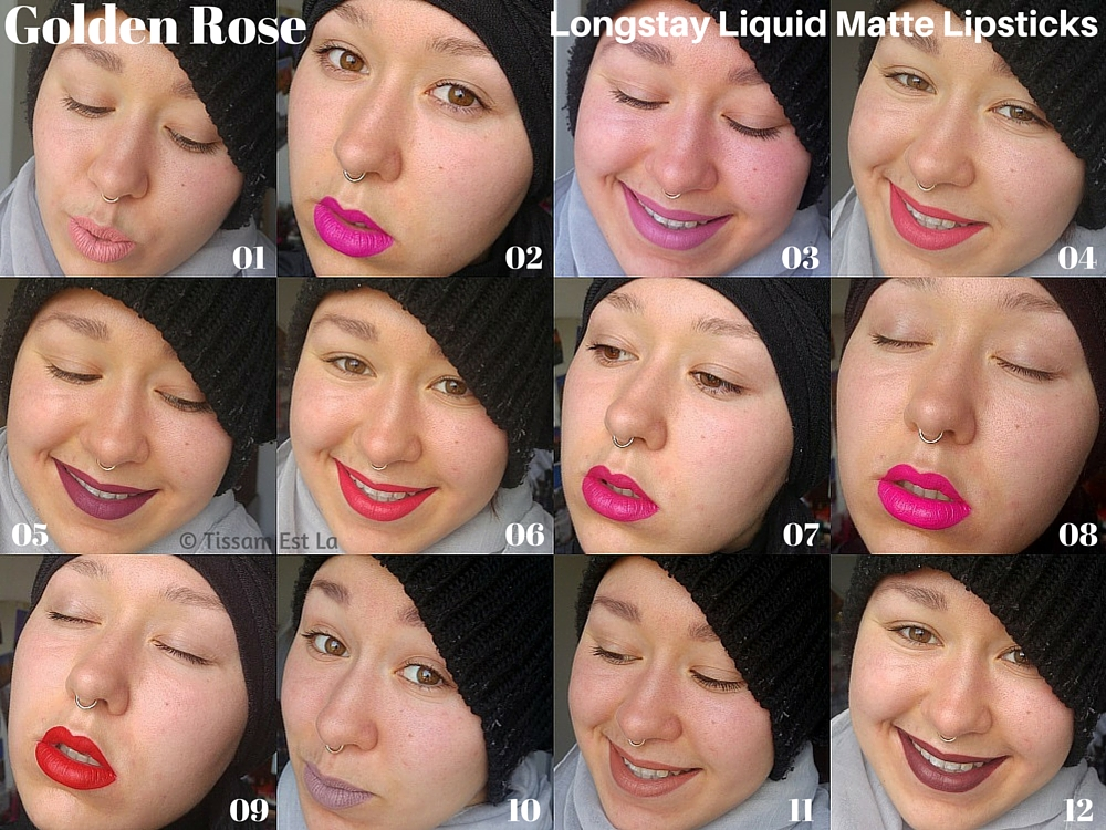 Golden Rose Longstay Liquid Matte Lipsticks, liquid matte lipsticks, cheap liquid matte lipsticks, Golden Rose Longstay, Longstay liquid matte lipstick swatches, golden rose longstay 01 02 03 04 05 06 07 08 09 10 11 12, equivalenza, equivalenza body mist, hollister body mist, hollister, rouges à lèvres liquides mats, rouge a levres mat pas cher, rouge levre mat pas cher