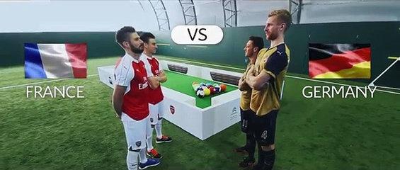 Citroen pone a los jugadores del Arsenal a jugar al footpool