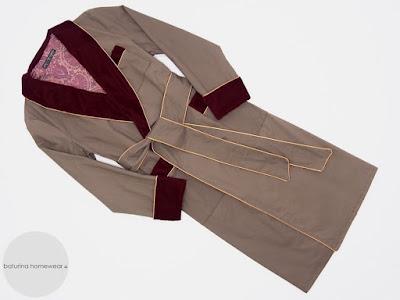 mens luxury cotton dressing gowns long robe burgundy velvet paisley lined warm full length bathrobe