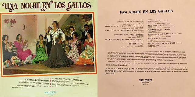 """EL ANDORRANO """"UNA NOCHE EN LOS GALLOS"""" BELTER 1972"""