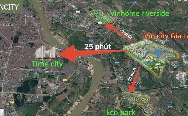 Kết nối khu vực của dự án Vincity Gia Lâm rất thuận lợi