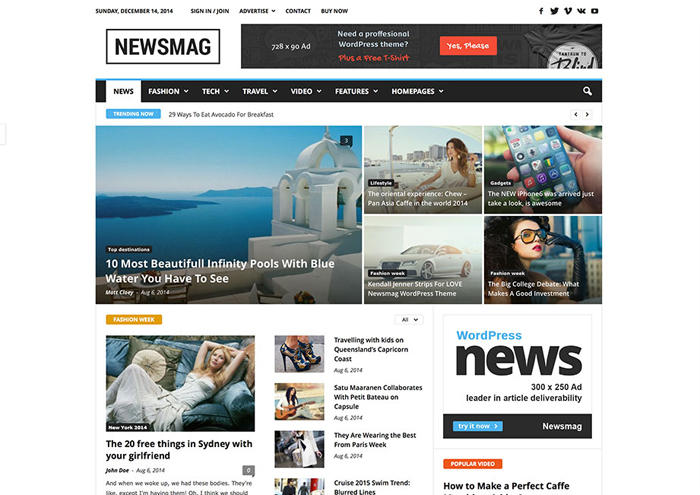 Newsmag v2.3.7 – News Magazine Newspaper WP Theme