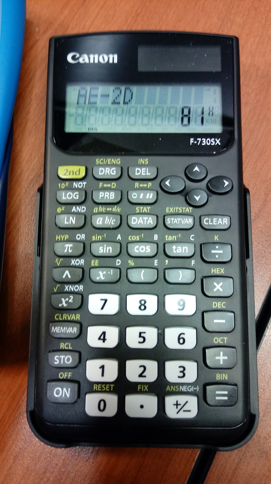 Eddie\'s Math and Calculator Blog: Review: Canon F-730SX Calculator