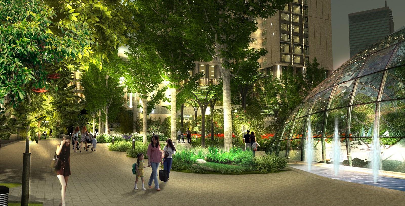 Không gian xanh tại Eco Green City luôn được chú trọng phát triển