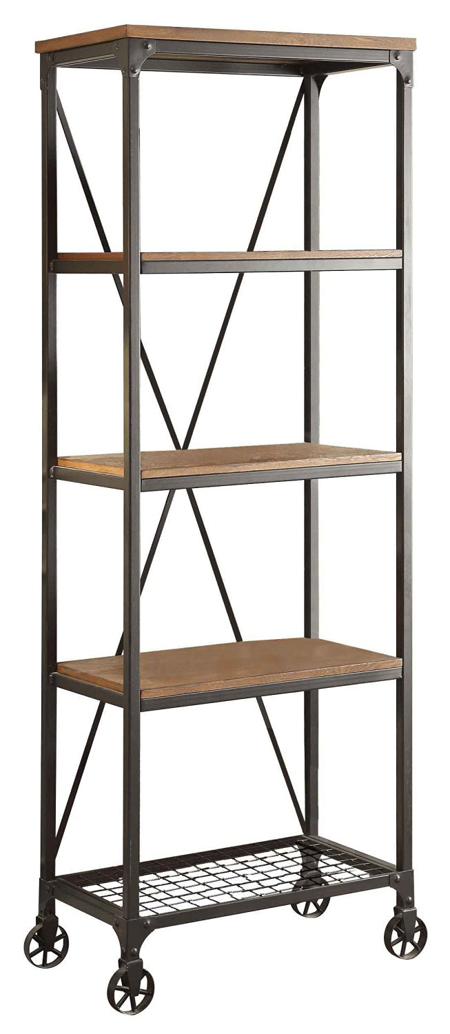 affordable mixed material bookcase - Affordable Bookshelves