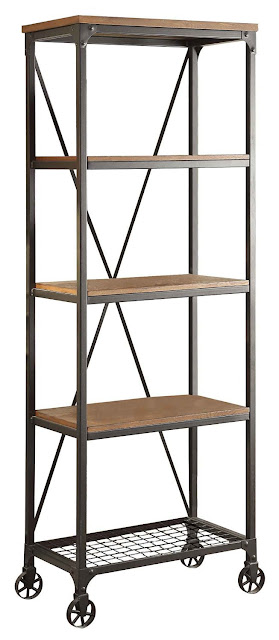 Affordable mixed material bookcase