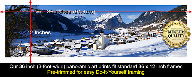 Large Wide panoramic photo prints for sale, wikipedia Owen Art Studios Panoramas
