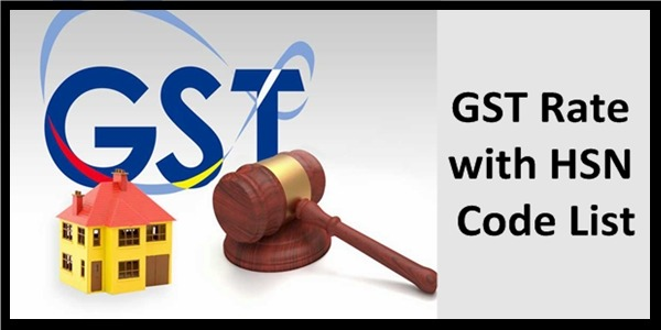 knowledge of GST Rate HSN Code