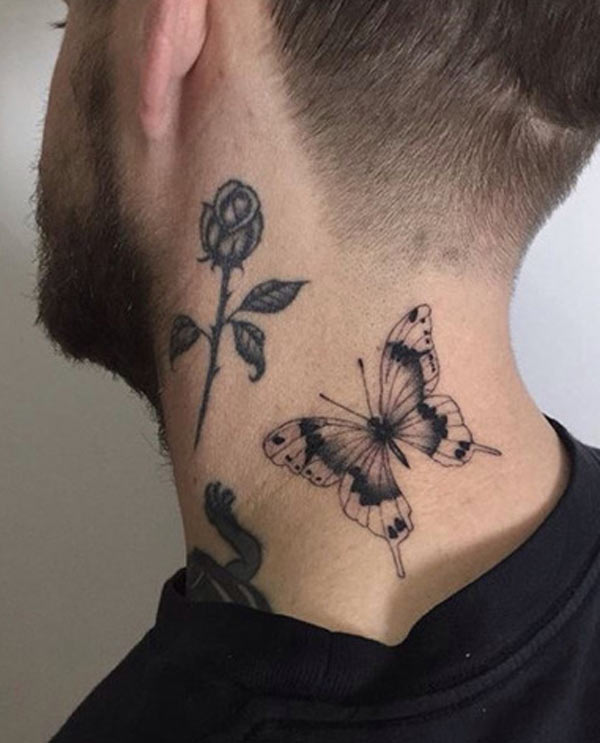 Butterfly Neck Tattoo: Tattoos Design Ideas: 32 Best Attractive Butterfly Tattoo