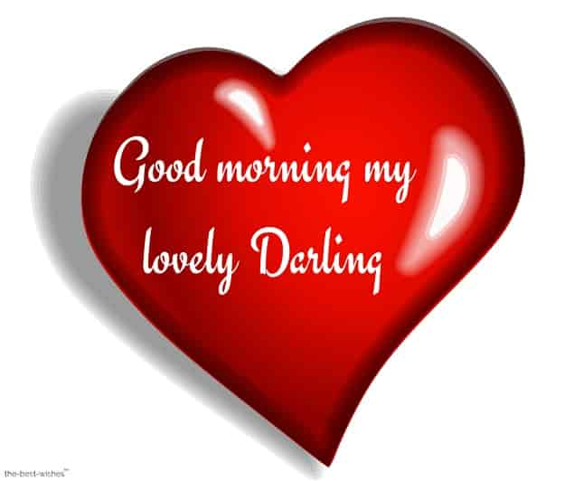 good morning my lovely darling