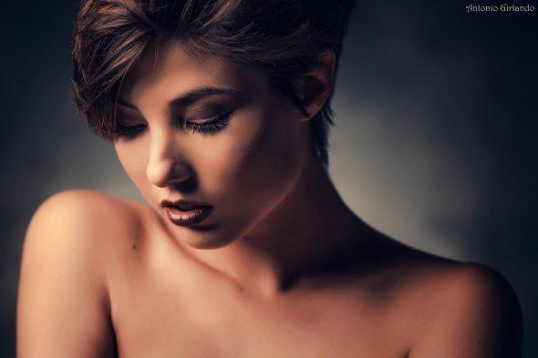 Antonio Girlando 500px arte fotografia mulheres modelos italianas sensual fashion cabelos curtos tatuagens Giorgia Soleri
