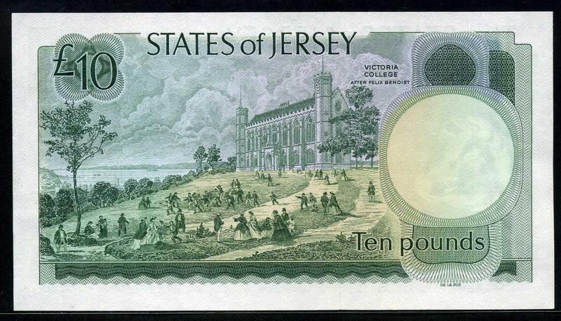 Jersey Banknotes 10 Pounds Note Queen Elizabeth Ii