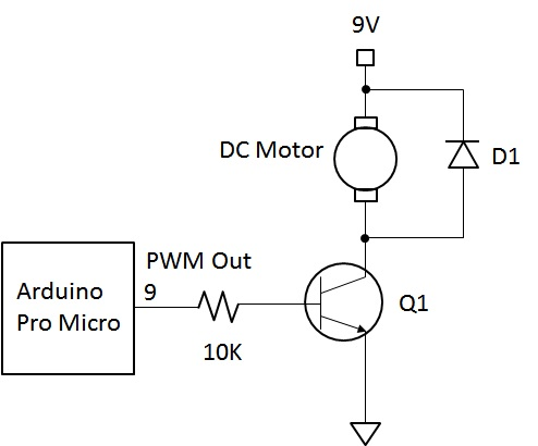 Arduino Transistor DC Motor Control