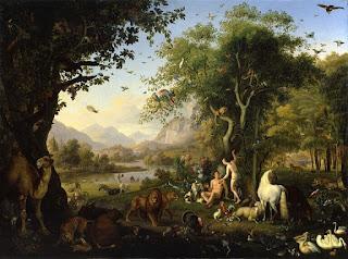 Nome bíblicos de menino: letra E (Imagem: Adão e Eva no Jardim de Éden - Wenzel Peter)