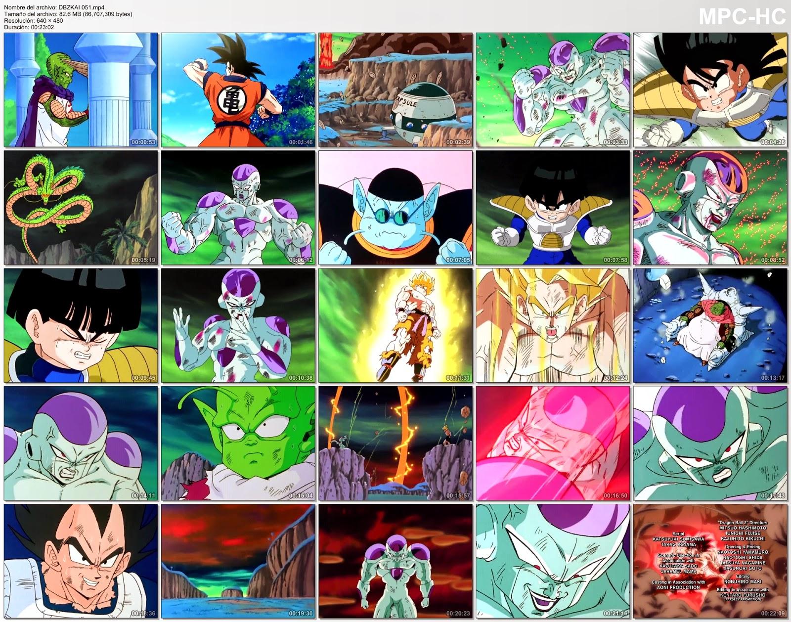 Resultado de imagen para dragon ball kai capturas