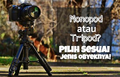 Monopod atau Tripod? Pilih Sesuai Jenis Objeknya!