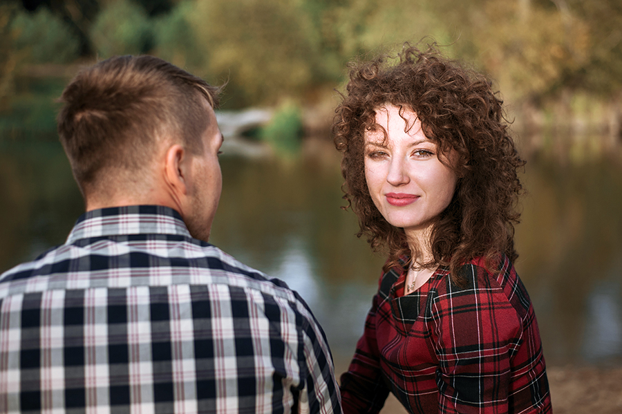Zakochani przy rzece, Lubartów. Portret.