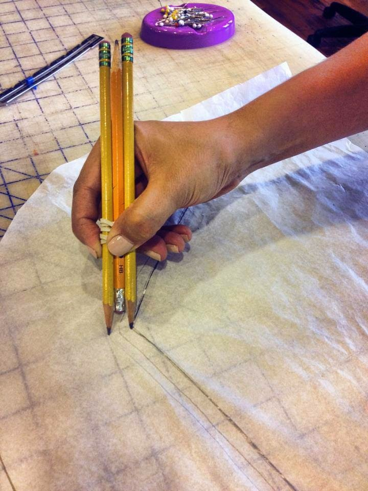 truco para marcar el margen de costura