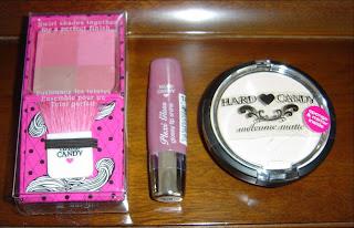 Hard Candy Cosmetics Fox in a Box Blushing Quad, Welcome Matte Mattifying Translucent Powder & Plexi Gloss.jpeg