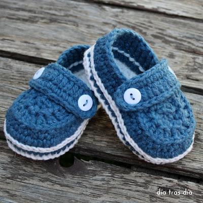 Mocasines crochet