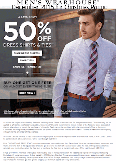 free Men's Wearhouse coupons for december 2016