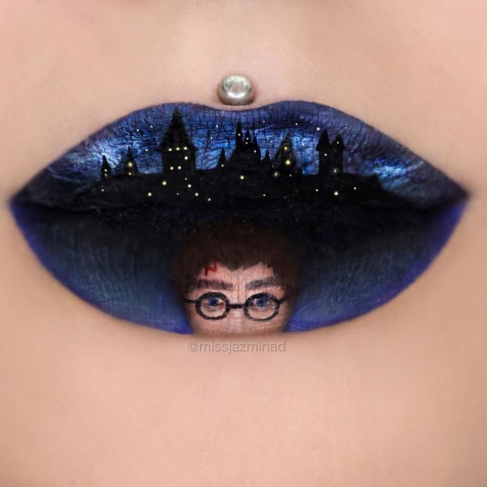 08-Harry-Potter-Daniel-Radcliffe-Jazmina-Daniel-Body-Painting-with-Lip-Art-www-designstack-co