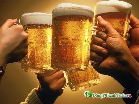 Nguyên nhân nóng trong người do uống rượu, bia
