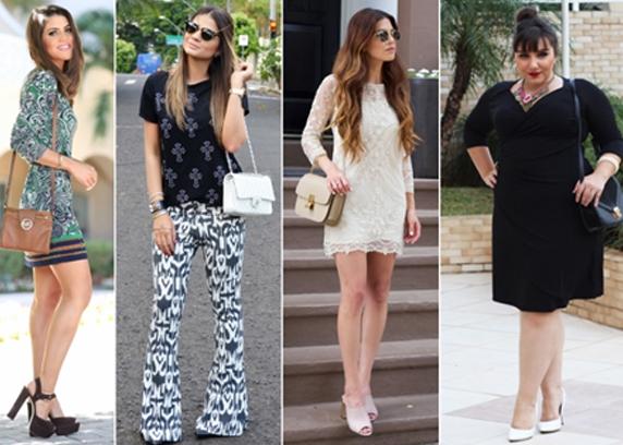 Fashionistas e famosas usando bolsa transversal feminina com look despojado e moderno.