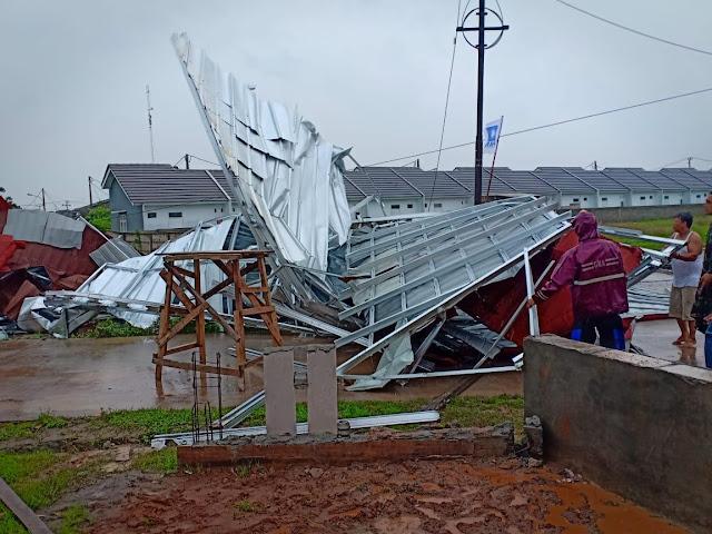 Puting Beliung Terjang Desa Jejalen Jaya