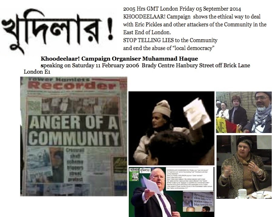a00fd6af0cd328 Defend the Community in the East End of London by stopping telling lies