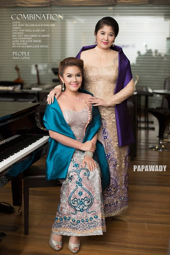 Fashion : Stunning Beauty of Soe Myat Thuzar and Ni Ni Khin Zaw Features For People Magazine