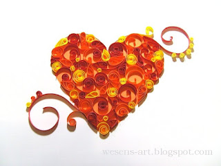wesens art quilling herz quilling heart. Black Bedroom Furniture Sets. Home Design Ideas