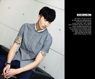 Kemeja Pria Korea Model Terkini Juni 2016 MK0002