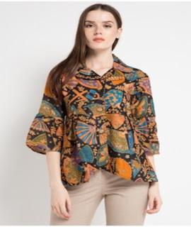 model baju batik atasan remaja