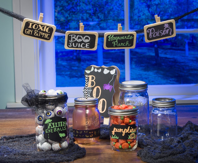 Chalkboard Stickers @craftsavy #craftwarehouse, #chalkboard, #Lables #Halloween