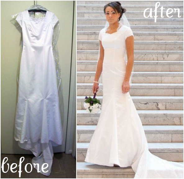Wedding Dress Alteration Attached Lace Jacket Reveal