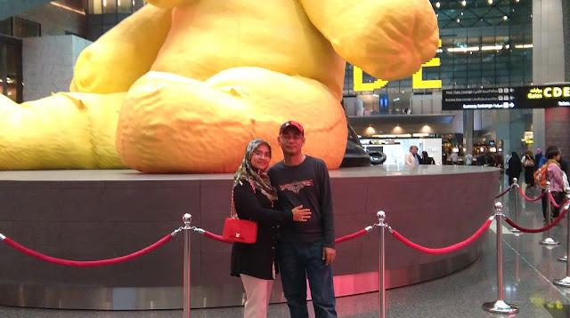 Big Yellow Teddy Bear Hamad international Airport