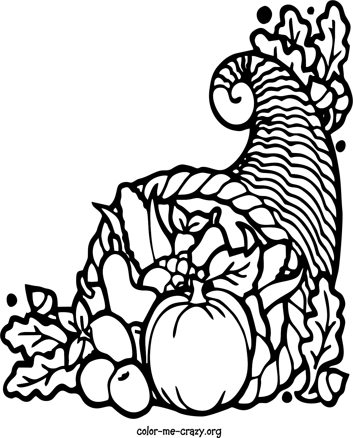 ColorMeCrazy.org: Thanksgiving Coloring Pages