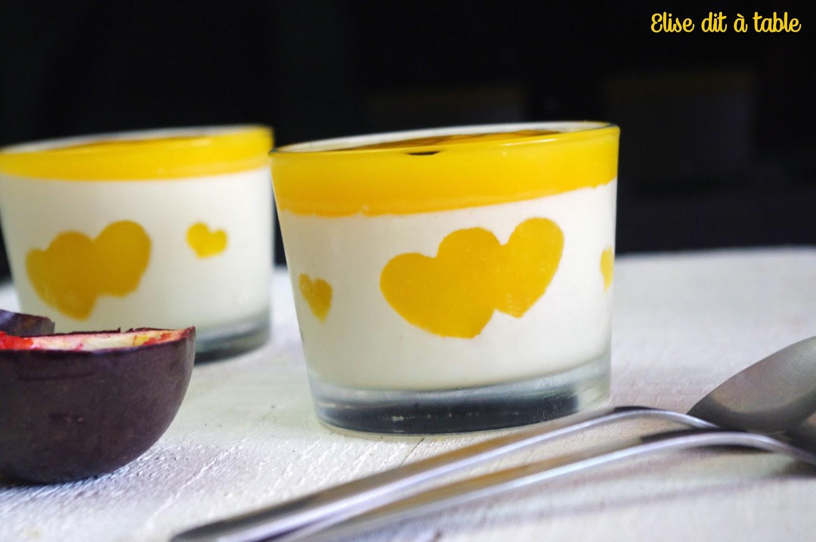 recette Panna cotta passion