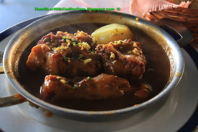 Oxtail stew, Taberna Real, Plaza Isabella II, Madrid, Spain