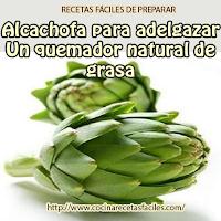alcachofa, beneficios, combatir, grasa, quemador, Bebidas para adelgazar,