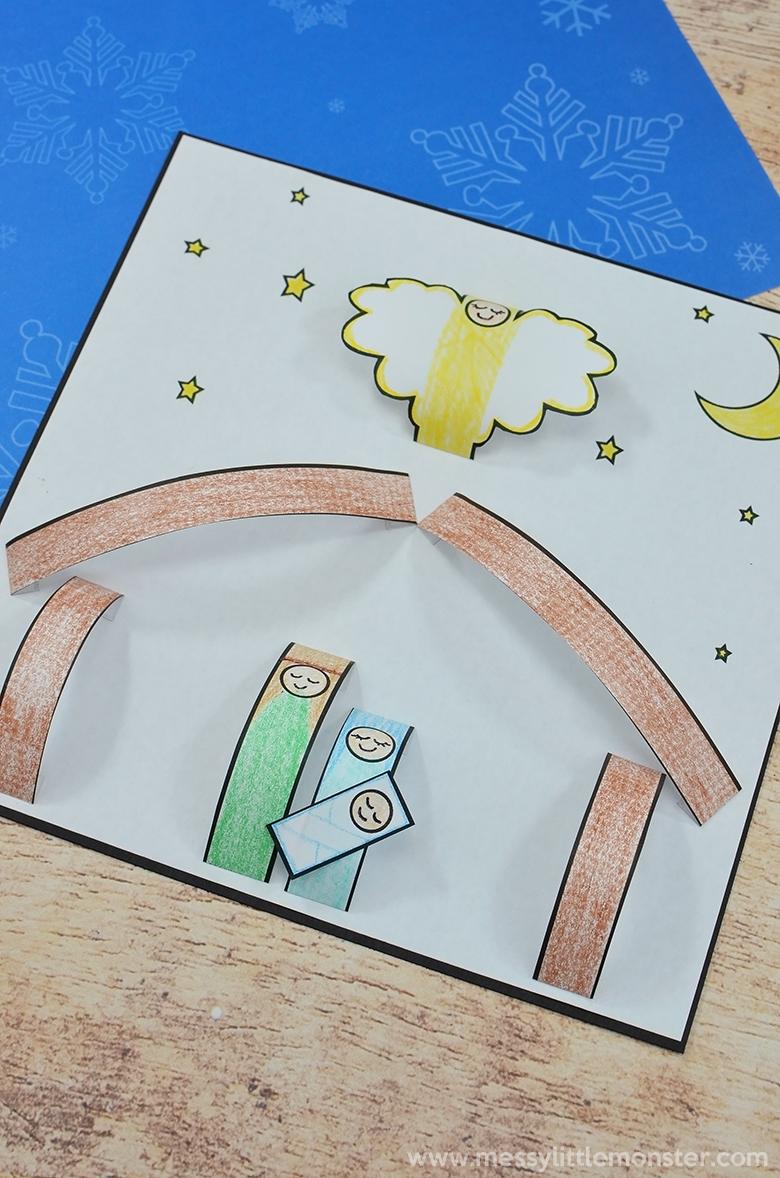 3D kids nativity craft