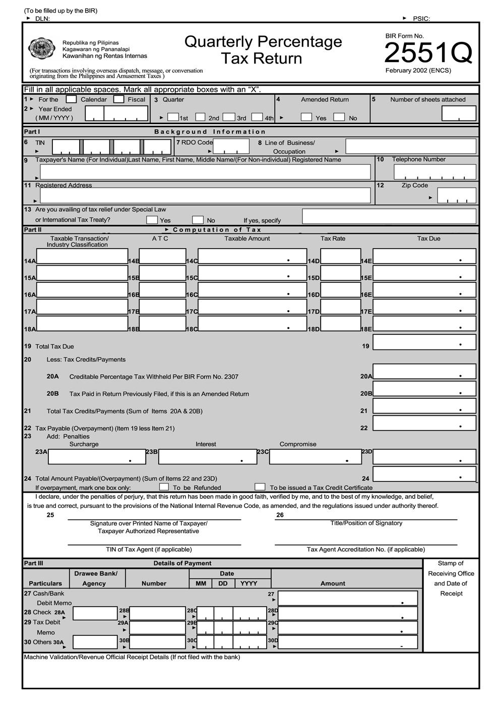 2551q form free download  busapcom: BIR Form 5Q Download