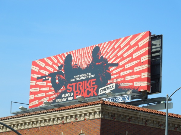Strike Back season 3 Cinemax billboard