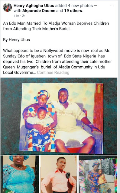 IMG 20180214 182001 094 - Edo man allegedly refuses to allow his children attend their mother's burial in Delta State