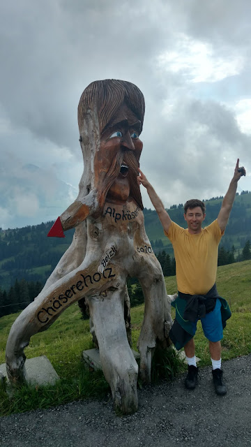atop Mount Rigi!