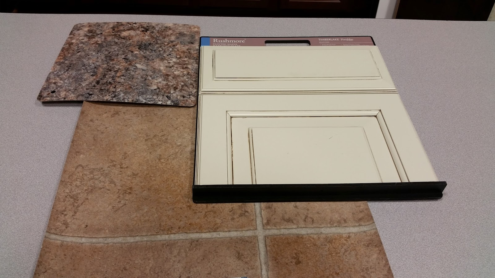 , we kept the standard cabinets, Timberlake Fairfield Square Wheat