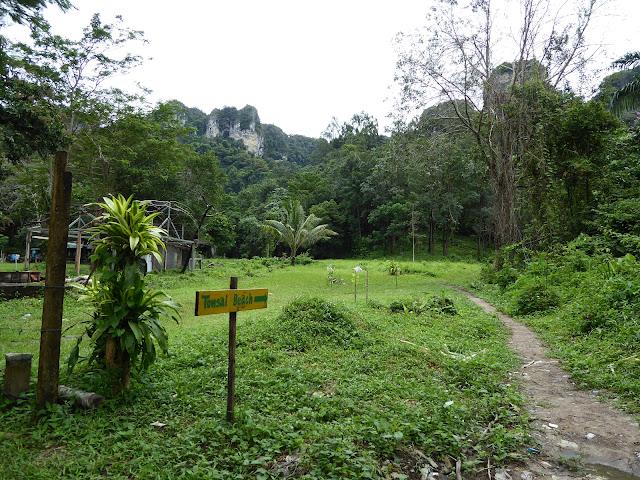 Camino de la jungla que enlaza Tonsai con Railay Este.
