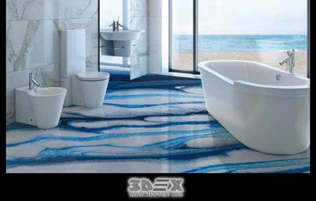 3D Flooring Images Designs 3D Bathroom Floor Epoxy Painting